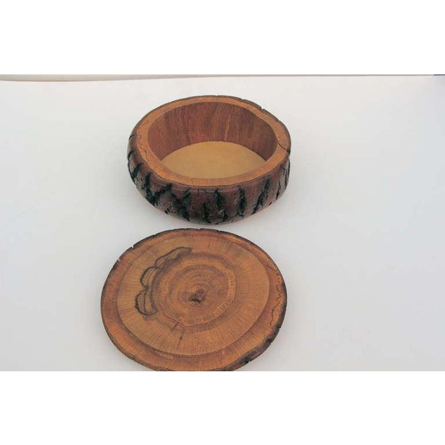 Image of Hand turned wood bowl box with fitted cover