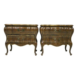 Bombay Style Nightstands - Pair