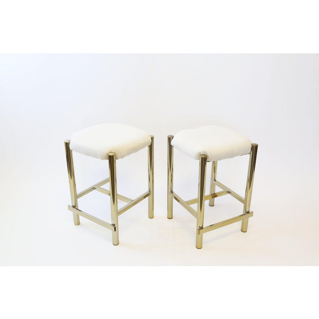 Vintage Cal-Syle Brass Bar Stools - A Pair - Image 7 of 7