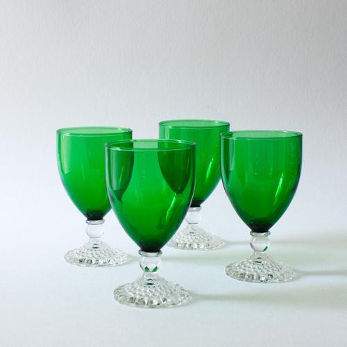 Emerald Wine Goblets - Set of 4 - Image 2 of 4
