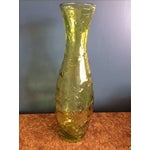 Image of Green Glass Flower Vase