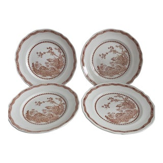 Mason's Ironstone Quail Pattern Dinner Plates - Set of 4