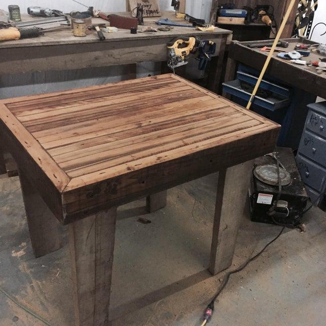 Reclaimed Wood Kitchen Island - Image 2 of 3