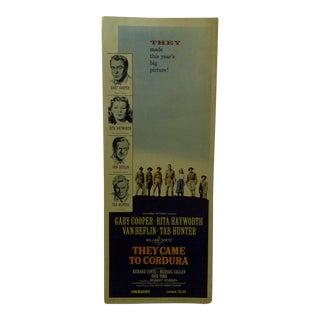 "Vintage Movie Poster ""They Came to Cordura"" 1959"