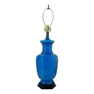 Asian Turquoise Blue Ceramic Lamp