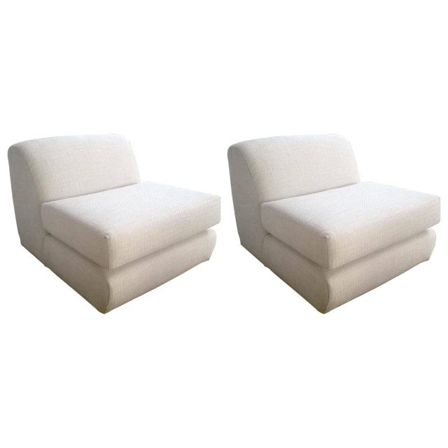 Image of Steve Chase Slipper Chairs - Pair