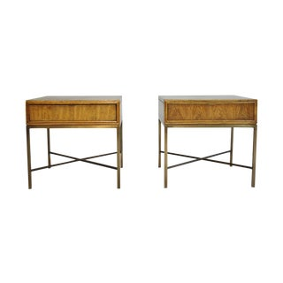 Single Drawer X-Frame Side Tables - A Pair
