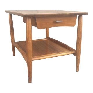 Mid Century Wood Side Table