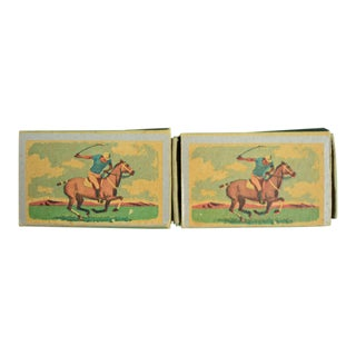 1955 Ohio Blue Tip Polo Matchbooks - A Pair