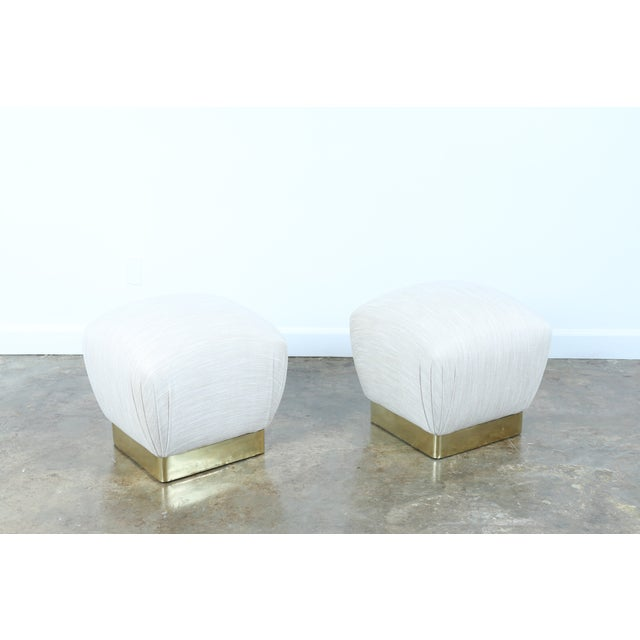 Karl Springer Soufflé Ottomans - A Pair - Image 3 of 10