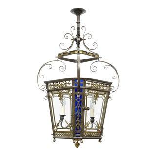 English Antique Victorian Bronze Lantern