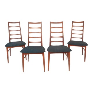 Niels Kofoed Mid-Century Modern Ladder Back Dining Chairs - Set of 4