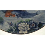 Image of Japanese Serving Bowl with Koi Fish