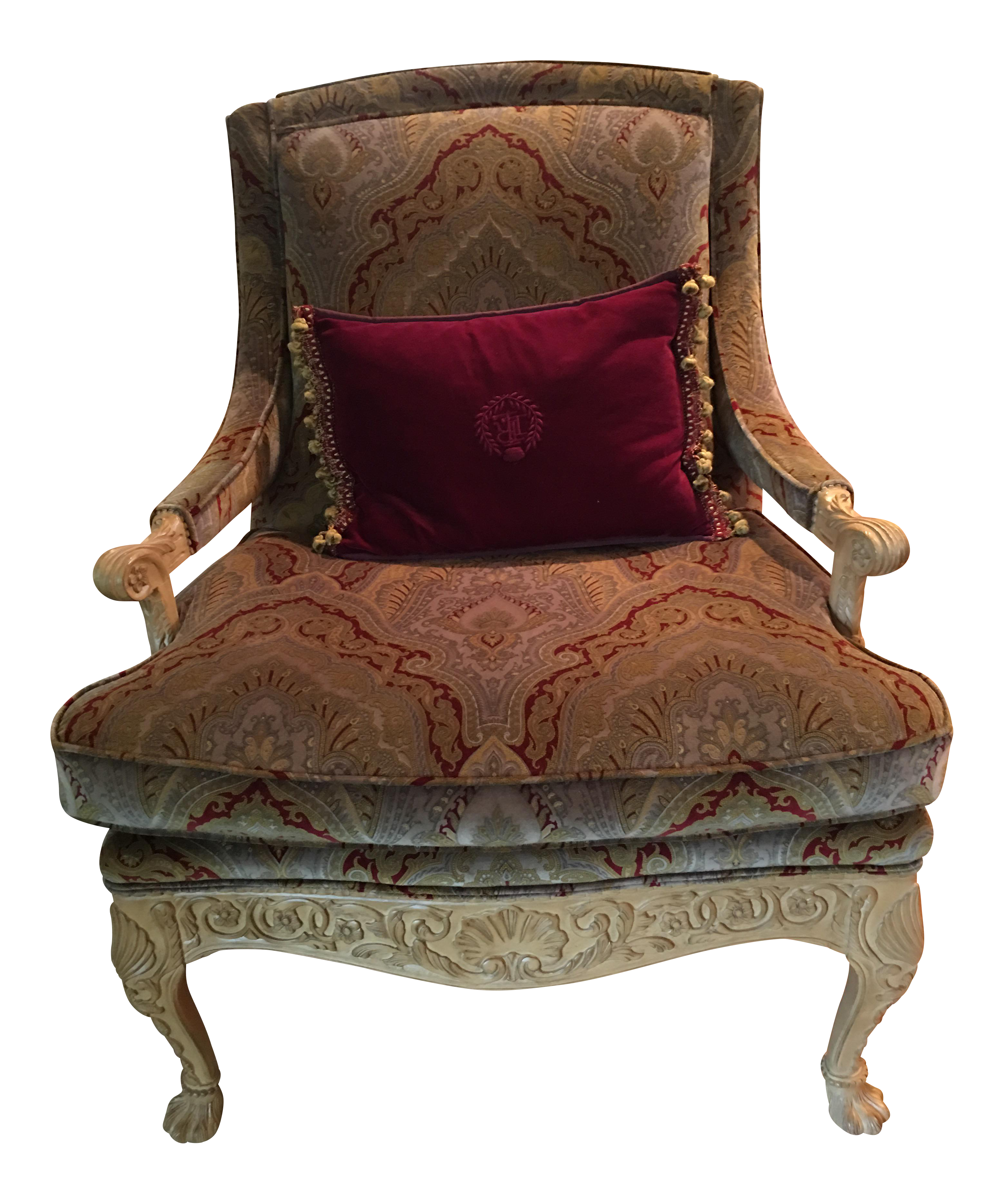Louis XV French Style Bergere Accent Chair   Image 1 Of 9