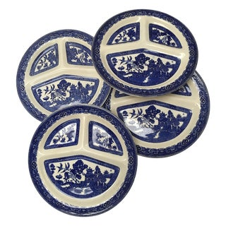Vintage Blue Willow Romarco Plates - Set of 4
