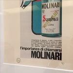 Image of 1971 Vintage Advertising Print Molinari Sambuca