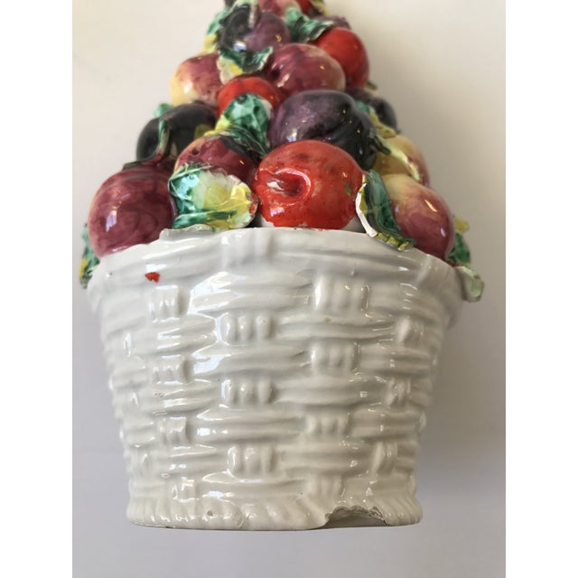 Vintage Porcelain Italian Fruit Topiary - Image 6 of 9