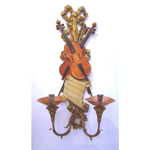 Italian Violin Sconces - Pair - Image 4 of 11