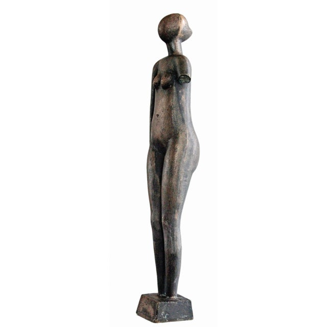 Image of Mid-Century Abstract Bronze Sculpture