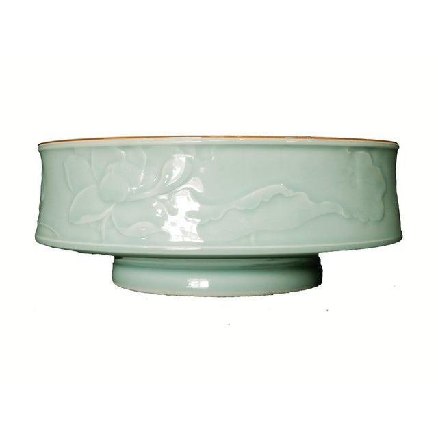 Image of Hand Carved Celadon Bowl