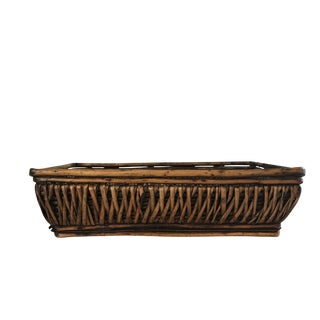 Boho Chic Wicker Tray
