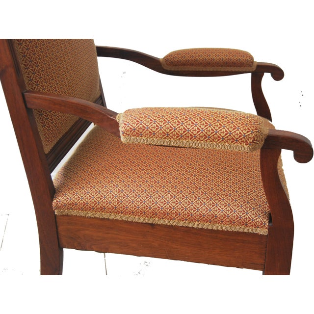 American Walnut & Upholstered Armchair - Image 2 of 10