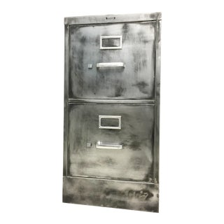 Industrial Hand-Brushed File Cabinet