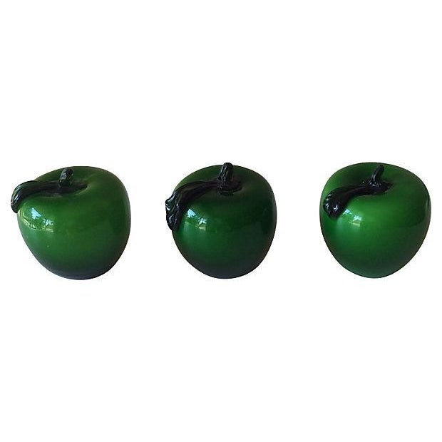 Handblown Apple Paperweights - Set of 3 - Image 3 of 3