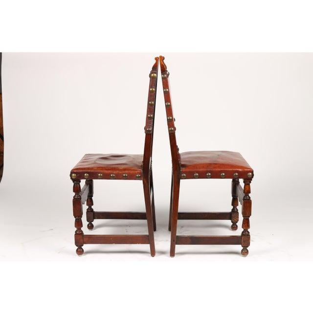 C.1900 Antique Spanish Chairs - A Pair - Image 4 of 9 - C.1900 Antique Spanish Chairs - A Pair Chairish