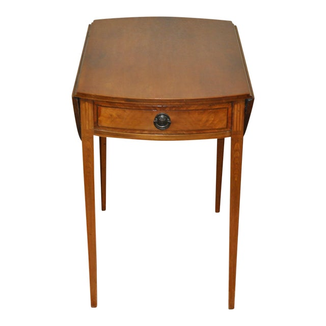 American Drop Leaf Side Table With Drawer C.1915 - Image 1 of 9