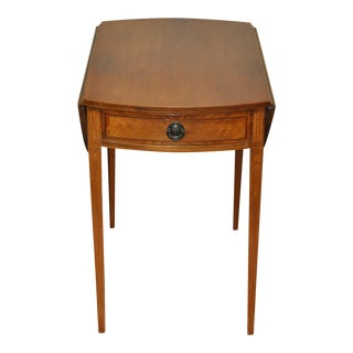 American Drop Leaf Side Table With Drawer C.1915