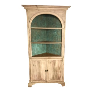 Bleached Pine Corner Cabinet