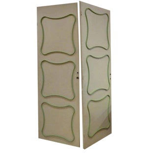 Rare Pair of Interior Doors by Jean Royere, France circa 1955