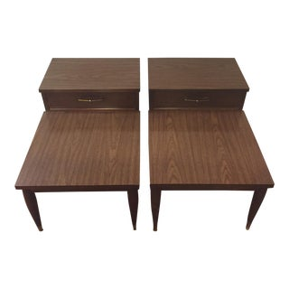 Mid-Century Side Wood Laminate Tables- A Pair