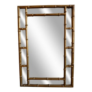 Gilded Faux Bamboo Wall Mirror
