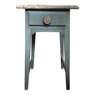 Distressed Gray Side Table