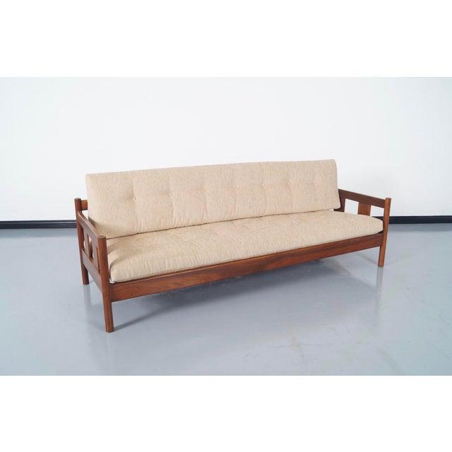 Danish Modern White Sofa - Image 3 of 5