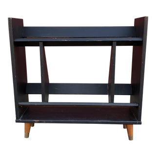 Mid-Century Modern Angled Shelf for Books Records
