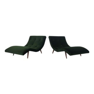 Adrian Pearsall Undulating Wave Chaises - A Pair