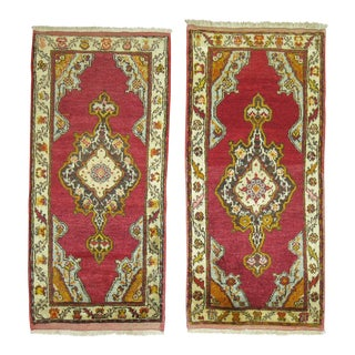 Pair of Red Turkish Rugs - 1′7″ × 3′2″