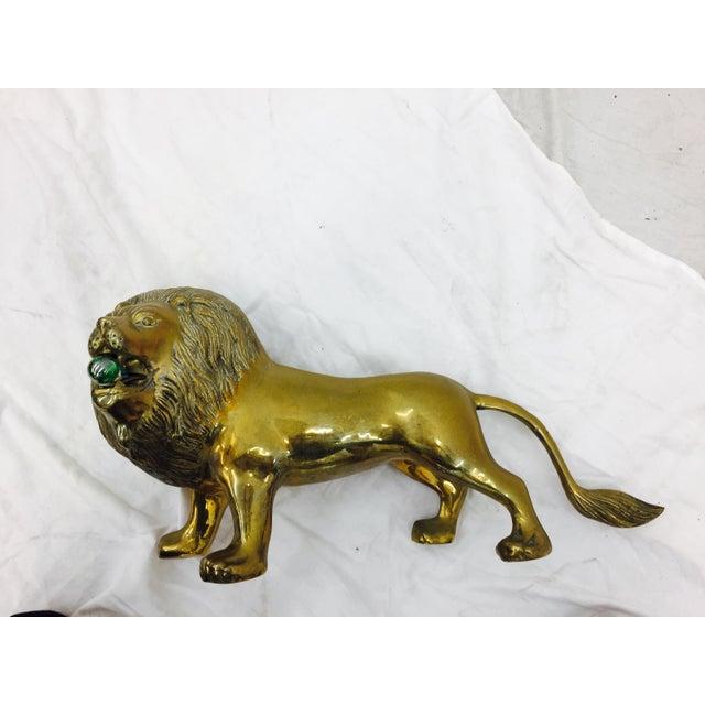 Vintage Brass Lion Sculpture - Image 8 of 10