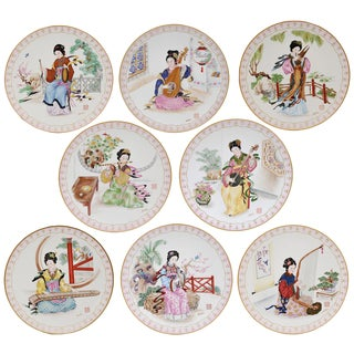 The Musical Maidens of the Chinese Imperial Dynasties Decorative Plates - S/8