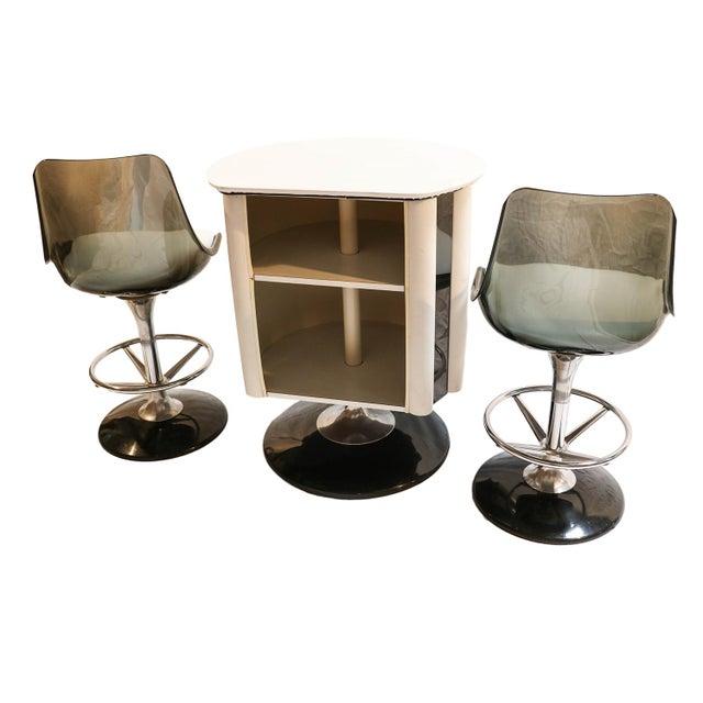 Chromcraft Mid-Century Modern Bar & Stools - Set of 3 - Image 3 of 9
