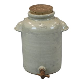French Vinegar Jar With Lid & Spigot