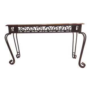 Metal W/ Wood & Glass Entryway Table