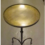 Image of Contemporary Brushed Brass Small Side or Cocktail Table