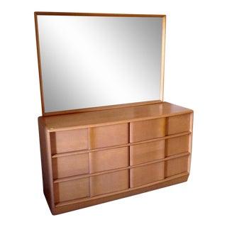 Heywood-Wakefield Sculptura Woman's Dresser With Mirror