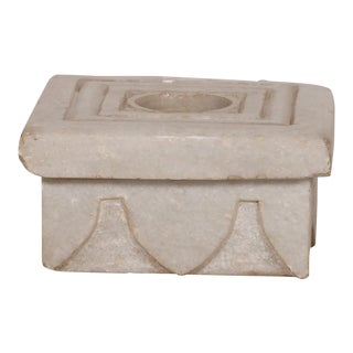 Square Stone Candle Holder