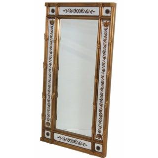 Gilt Frame Églomisé Mirror