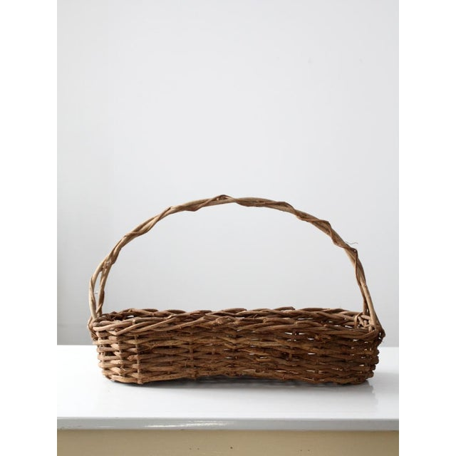 Primitive Wicker Twig Basket - Image 2 of 6